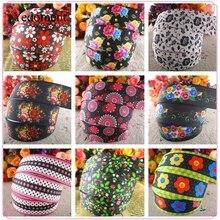 Hair-Bows Grosgrain-Ribbons 25mm Handmade-Materials Flowers-Printed 1-10-Yards 18092725