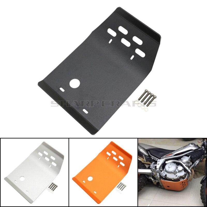 Motorcycle Black Silver Orange Aluminum Engine Guard Bash Protector Skid Plate Cover For Yamaha XT250 Serow