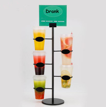 Multifunctional Cola Cup Mug display stand 3/4/5layers Storage Rack Coffee paper Tea cup beverage holder