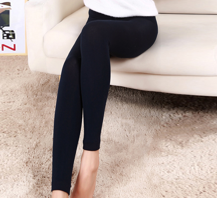 Women Autumn Winter   Leggings   New Sexy Solid High Elastic Waist Thick Warm Bodycon Pants Push Up   Leggings   Free Size Pencil Pants