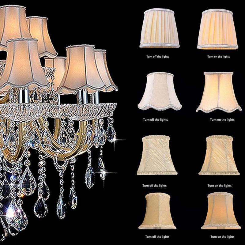 Nowy klasyczny klosz kryształowy świecznik specjalny pokrowiec na lampę wykwintne pokrowce na tkaniny E14 pokrywający klosz z tkaniny