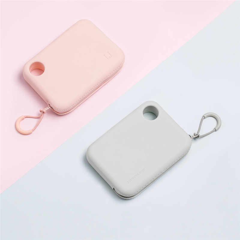 XIAOMI Mijia силиконовый портативный на молнии сумка для хранения сумка кошелек легкий ж/ручной ремешок сумки для хранения