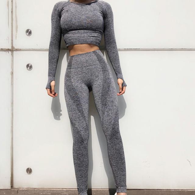 2 pcs  New Seamless Yoga Set Suits