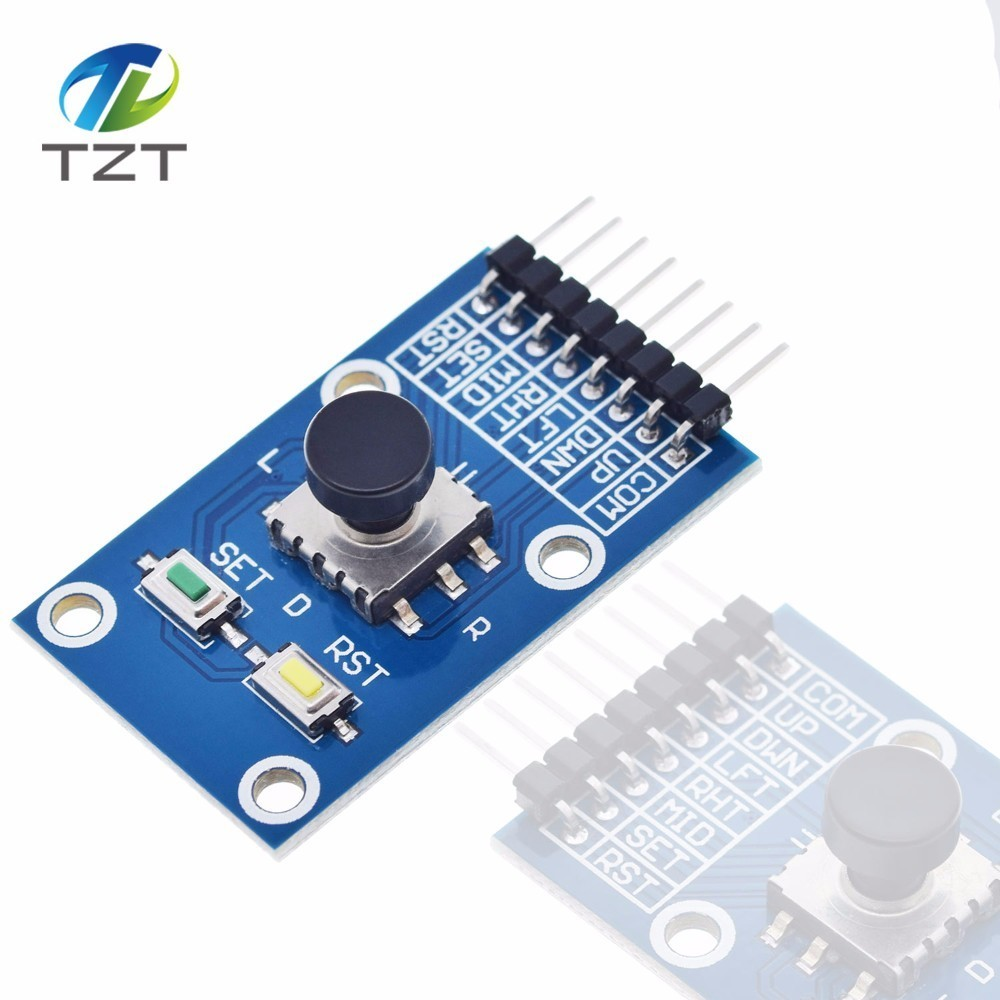 US $0 62 6% OFF|TZT Five Direction Navigation Button Module for MCU AVR  Game 5D Rocker Joystick Independent Keyboard for Arduino Joystick Module-in