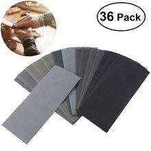 UEETEK 36 stücke 400 zu 3000 Schleifpapier Sortiment Trocken/Nass für Automotive Schleifen Holz Möbel Finishing
