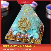 AURA REIKI Orgonite Pyramid Energy Converter Helps Career Resin Decorative Craft That Changes The Magnetic Field Of Life Gift