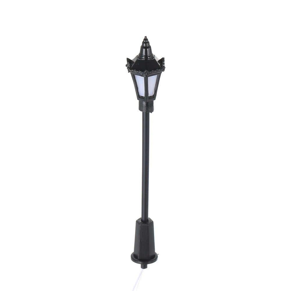 20 sztuk układ ulic Model lampy światła uliczne układ różnej skali latarni kolejowych pociąg ogród plac zabaw dla dzieci dekoracje Led
