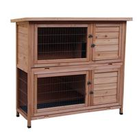 48 2 Tiers Waterproof Wood Cages Pet Cage Chicken Coop Rabbit Hutch Living House for Small Animals