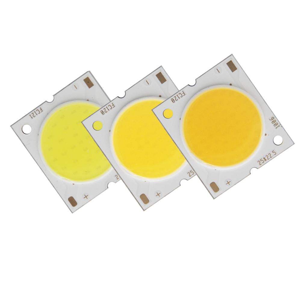 Купить с кэшбэком 10PCS/lot 25mm 22.5mm 20mm round LED COB Strip Square Flip chip High lumen Light Source Module 10W 15W 20W 30W COB bulb lamp