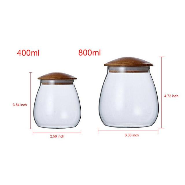 Glass Jars Mason Jar Transparent Storage Can Cork Stopper Bottle Candy Glass Bottles Containers Sealed Tea Coffee Storage Tank 2