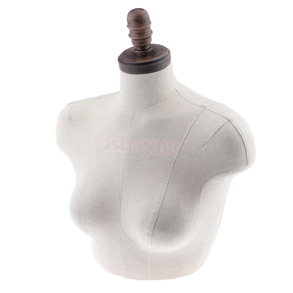 Female Clothing Display Dress Form Bust Nud Mannequin Torso Dummy Top Stand new 2pcs female right left vivid foot mannequin jewerly display model art sketch