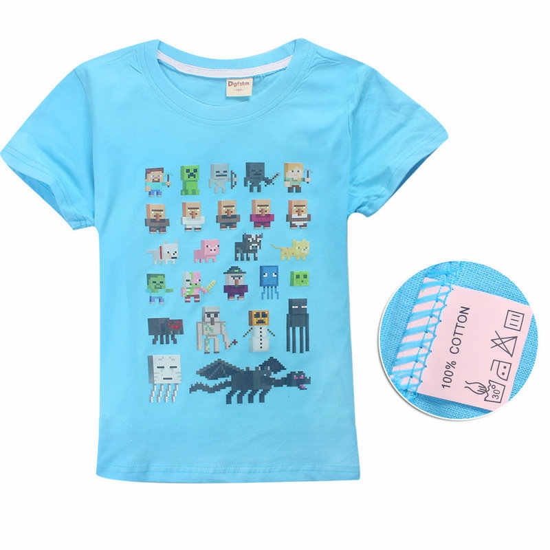 25f847228b Summer Kids T-Shirt Minecraft game JOJO siwa Marshmello T Shirt DJ Music  boys and girls cotton short sleeve T-Shirt clothing