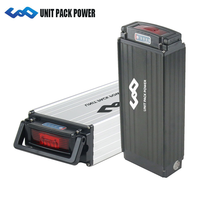Electric Bike Rack Batteries 48V 26Ah ebike lithium ion battery Pack with 30A bms 3A fast charger