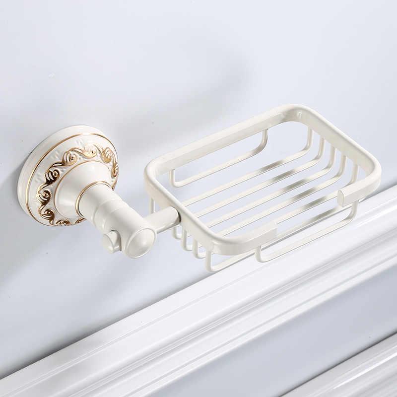 Mydelniczki antyczne/biały mydelniczka wanna półka dozowniki mydła przechowywania ściany akcesoria łazienkowe czarne mydło stojak