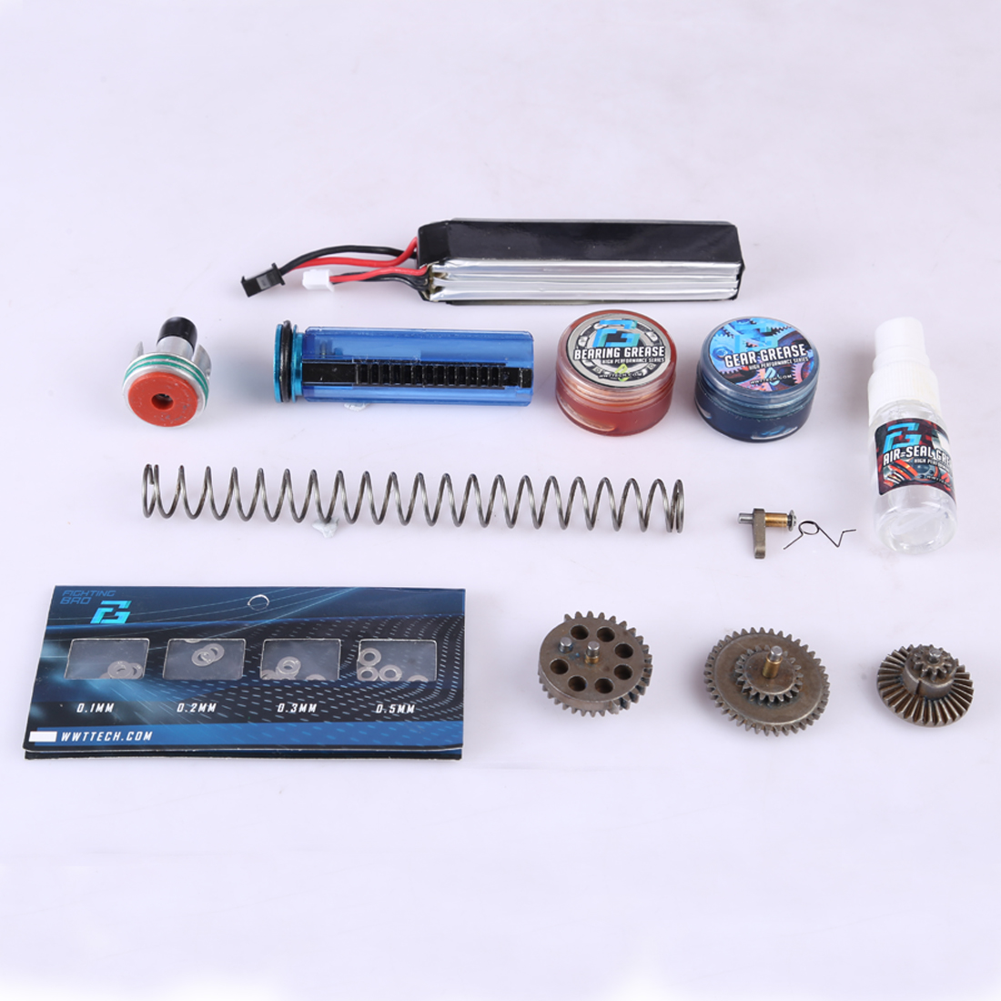 DIY Jinming Gear Box Basic Modification Kit For Jinming Gen 8 M4 And Gen 2 Scar