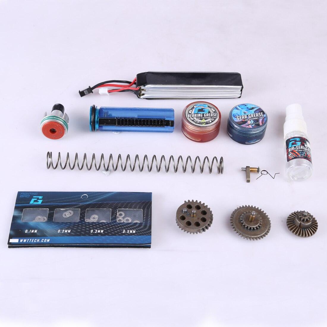 DIY Jinming Gear Box Basic Modification Kit For Jinming Gen 8 M4 And Gen 2 Scar