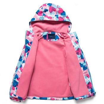 Jacket For Girls 2020 Spring Children's Flower Fleece Clothes Girls Coat Windbreaker Outerwear Kids Polar Fleece Windproof 3-12T 3