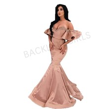 2019 Off-the-Shoulder Mermaid Evening Dresses Long Arabic
