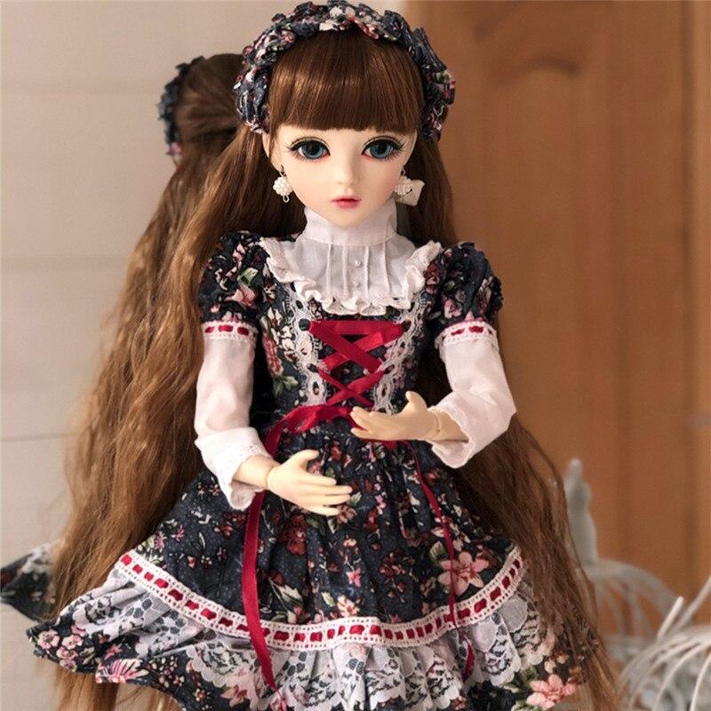 BJD 1/3 bricolage poupée filles avec des vêtements mobiles Joint corps poupée soutien changer les yeux jouets classiques meilleur cadeau de saint valentin