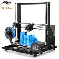 Upgraded Version Anet A8 Plus DIY 3D Printer 300 x 300 x 350mm High Precision LCD Screen Aluminum Alloy Frame 3D Pinter DIY KIT