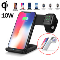 Jetjoy Watch 4 3 Charging Stand for iPhone Xs Max Samusung Galaxy Wireless 10W Fast Charger For LG Xiaomi Huawei Mate 20 Pro