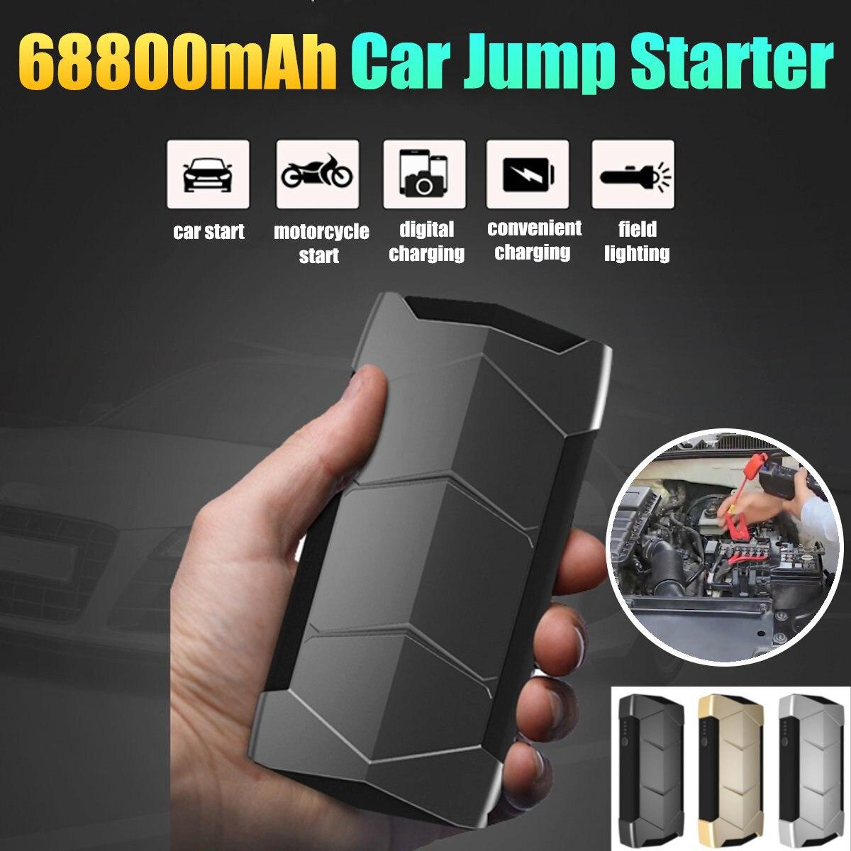 68800 mAh voiture saut démarreur grand taux de décharge Diesels batterie externe pour voiture moteur véhicule booster démarrage jumper batterie avec sac