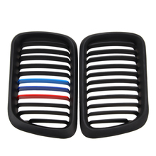 1 Pair Front Matt black M Style Kidney Grille Grill For E36 M3 3 Series 1997-1999