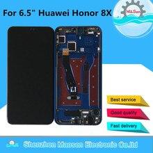"6.5 ""original m & sen para huawei honor 8x JSN L21 JSN L42 tela lcd moldura + painel de toque digitador para honor view 10 lite"