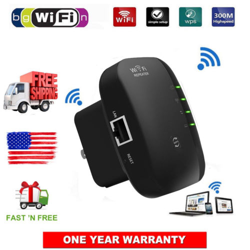 300Mbps Wifi Repeater Wireless-N 802.11 AP Router Extender Signal Booster Range Hot Signal Boosters