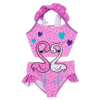 Traje de niños de una sola pieza traje de baño para niñas traje de cisne traje de baño traje de dibujos animados lindo bebé traje de dibujos animados de natación ropa