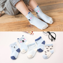 2019 Spring And Autumn Baby Short Socks New Pattern Cartoon Newborn Socks Pure Cotton Boy and Girl Children Socks 5 pairs/lot pink cat 5 pairs baby socks spring and autumn cartoon children s socks unisex all combed cotton newborn socks 10 color