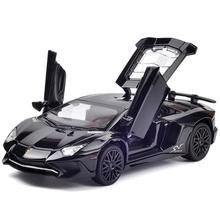 1:32 Lamborghini Aventador LP750 Diecast Model Car Sound Light Pull Back Car Toy цена