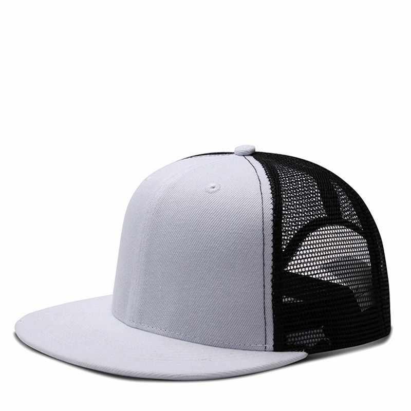 Beckyruiwu 2019 אביב ובקיץ שטוח אפס מקום שמש כובע למבוגרים רגיל בייסבול כובע גברים ונשים רשת Snapback כובע
