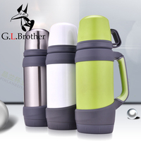 0.8L 1L Thermoses Stainless Steel Vacuum Flasks Large capacity cup Outdoor Travel mug Thermos Bottle tepmoc sport water bottle
