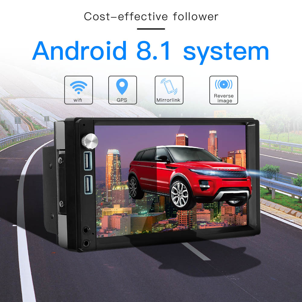 7 Inch Car Multimedia Player for Android 8.1 Bluetooth WIFI Dual USB Dual AUX GPS Nav Car Stereo 2DIN Car Radio Video MP5 Player7 Inch Car Multimedia Player for Android 8.1 Bluetooth WIFI Dual USB Dual AUX GPS Nav Car Stereo 2DIN Car Radio Video MP5 Player