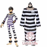 Nanbaka Jyugo No.15 Prison Clothes Cosplay Costume Full Set with Accessories