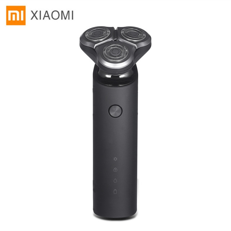 Xiaomi Mijia IPX7 Waterproof Rechargeable Electric Shaver Razor 360 Degree Float Shaving Dry Wet Use MJTXD01SKS trendy see through off the shoulder long sleeve lace blouse for women