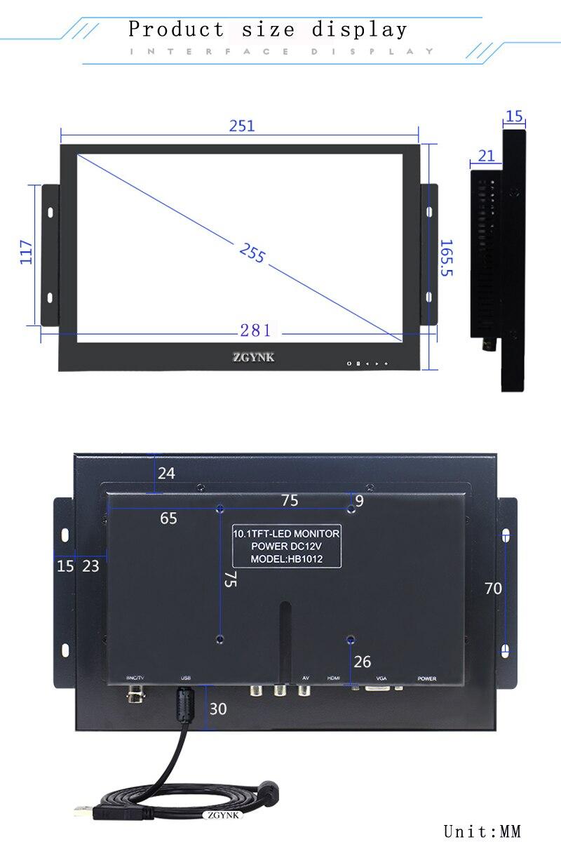 10.1 inch metaal ingebed 1080P HD touchscreen open medische IPS - Computerrandapparatuur - Foto 3