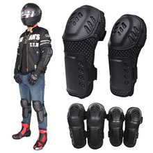 2pcs/pair Motorcycle Hard Stainless Racing Riding Elbow Knee Pads Armor High quality and high density ABS Protector Guard