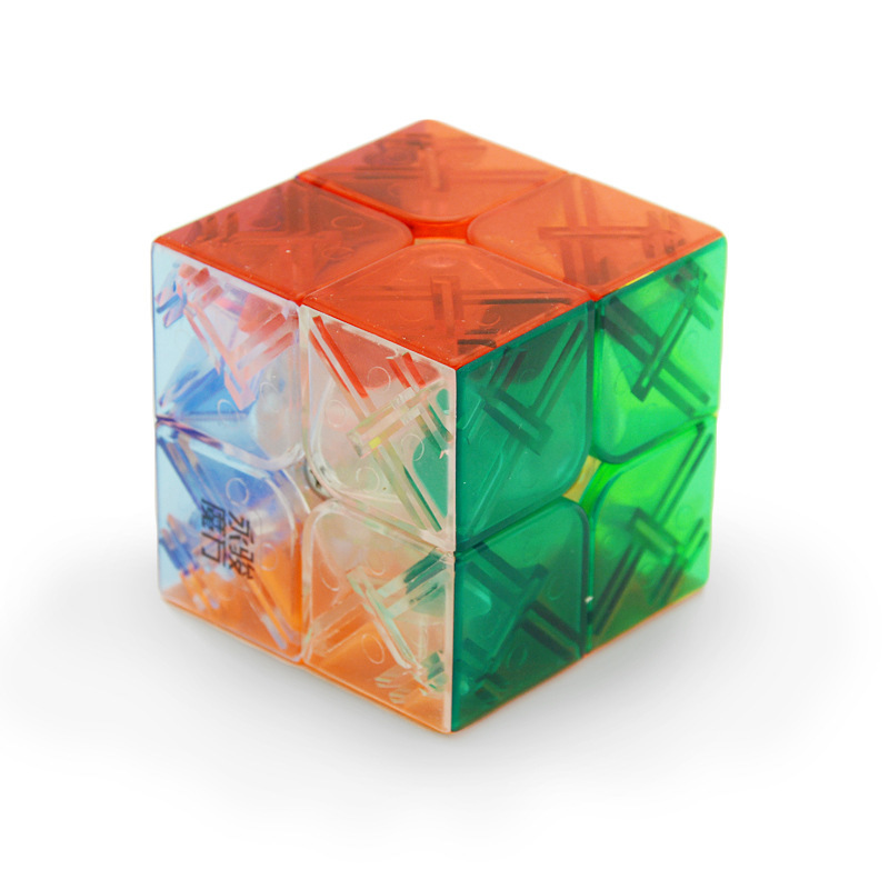 YJ Two Steps Transparent Colour 】2 Steps Colour With Slippery Magic Cube Student Children Alpinia Oxyphylla Early Childhood Toys