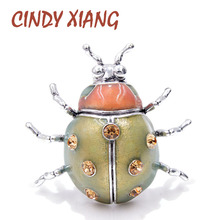 CINDY XIANG New Color Arrival Enamel Ladybug Brooches for Women Large Insect Pins Fashion Jewelry Cute Bug Accessories Good Gift