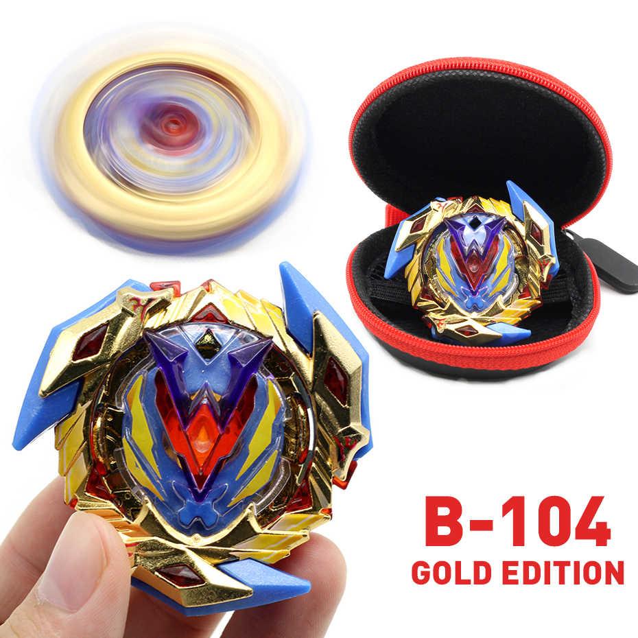 Edición Dorada Bey Bay Burst Toy B-122 sin lanzador y caja Babled fusión de metales rotar la hoja superior hoja niño juguete para regalo