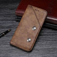 Retro Phone Case Cover for OnePlus 7 Pro PU Leather Wallet Case Magnetic Flip Stand Cover on Oneplus 7 pro 7pro Armor Shell