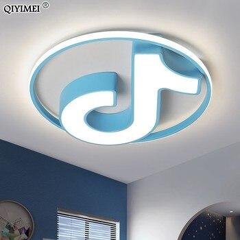 Modern LED avize tavan beyaz çocuk armatür oturma odası mutfak çocuk ışık dekorasyonu armatürleri kapalı lambalar
