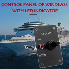 12V 15A Anchor Windlass UP/DOWN Toggle Switch Control Panel with Red Indicator for Boat
