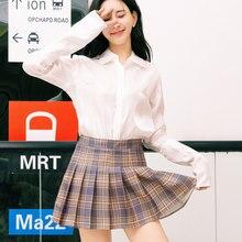 26265b7b186 Korean Version Woman Japanese School Uniform Skirt High Waist A-line Summer  Girls Plaid Pleated