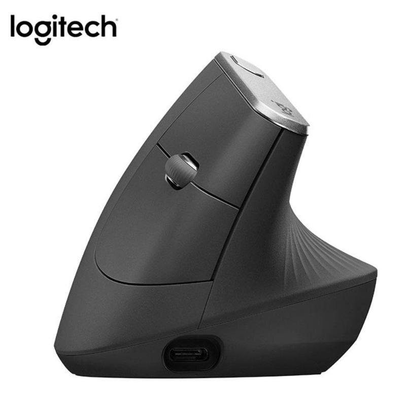 Logitech MX souris verticale sans fil Rechargeable avancée ergonomique Mouse10 mètres sans fil 4 boutons personnalisables pour macOSX