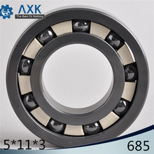 685 Full Ceramic Bearing ( 1 PC ) 5*11*3 mm Si3N4 Material 685CE All Silicon Nitride Ceramic 618/5 Ball Bearings axk 6208 full ceramic bearing 1 pc 40 80 18 mm zro2 material 6208ce all zirconia ceramic ball bearings