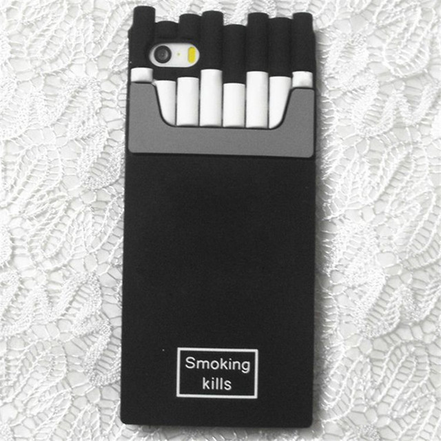 huge selection of 760da efe8d US $3.75  For Iphone 7 7Plus Smoking Kills Cigarette Case for IPhone 4 4s 5  5S 6 6S Plus For Samsung 6 Silicone Soft Cigarette Case Coque-in Fitted ...