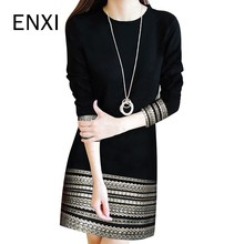 ENXI O Neck Full Sleeve Maternity Dresses Above Knee Length Pregnancy Dress Women